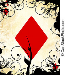 playing card - old playing card with a vintage design on it