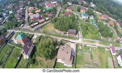 Russian village - Aerial round view of the russian village...