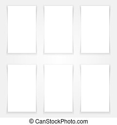 Blank banners mock up set Vertical standing layout Web,...