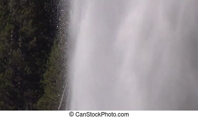 Eruption of Beehive Geyser in Yellowstone National Park
