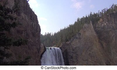 Lower falls, Yellowstone NP - Lower falls in the Grand...