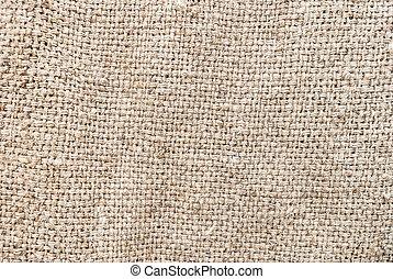 Natural sackcloth, Fabric Jute Texture Pattern Closeup,...