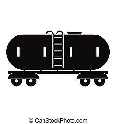 Railroad gasoline and oil tank icon