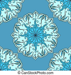 Seamless abstract pattern - Seamless abstract floral pattern...