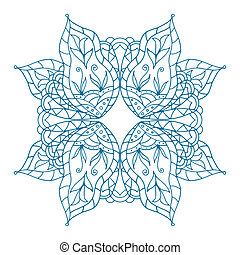 Mandala Art pattern. Art blue background. Scrappbooking hand...