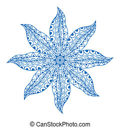 blue paisley mandala - Blue Mandala Ethnic decorative...