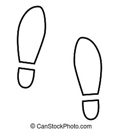 Imprint soles shoes line icon Vector illustration on white...