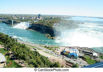 Niagara Falls - view of Niagara Falls between US and Canada