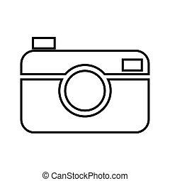 Digital line icon. Vector illustration on white background