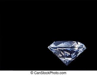 Faux Diamond on Black Background - Large beautiful shiny...