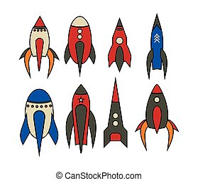 Rocket icons - Vector illustrations of the Rocket icons