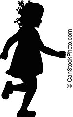 Vector silhouette of a girl