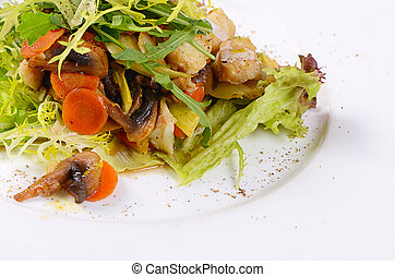 Salad from baked carrots with vegetables - Salad from...