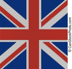 Knitted flag of the United Kingdom