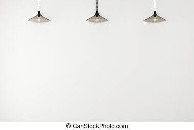 ceiling lamps - concrete wall and ceiling lamps 3d render