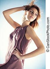 Young slim woman portrait