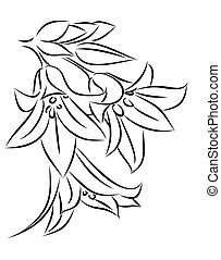 Sketch of wild flowers. - A sketch of the blossoming wild...