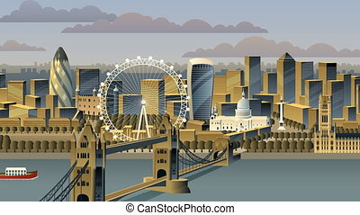 London cityscape animation.