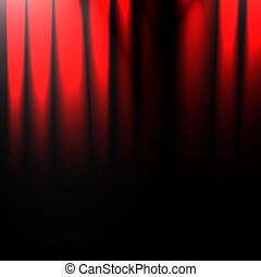 red drapes - red movie or theater drapes with some folds