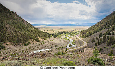 Madison River in Montana. This was the scene of a large...