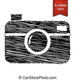 Dgital photo camera icon - digital photo camera icon with...