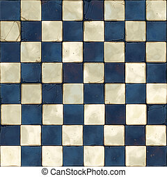 blue white tiles seamless