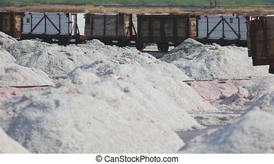 Salt mining in Sambhar - SAMBHAR, INDIA - NOVEMBER 19, 2012:...