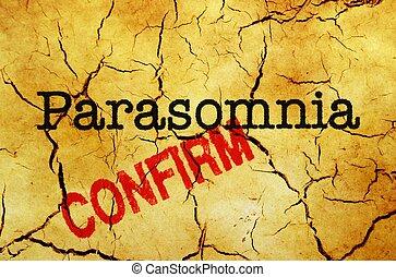Parasomnia confirm