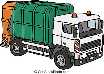 Dustcart - Hand drawing of a dustcart