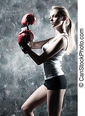 Boxeador, mujer, Moda