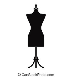 Dressmaker model icon - Dressmaker model black simple icon...