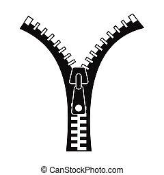 Zipper black simple icon