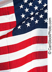 America flag, USA - Waving flag of America flag, USA
