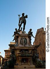 estatua, de, tritón, en, plaza, della,