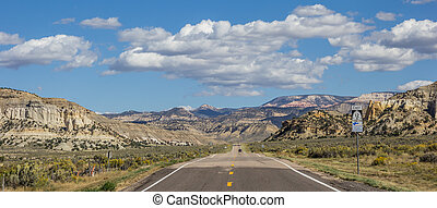 Panorama of scenic byway 12 in Utah, USA