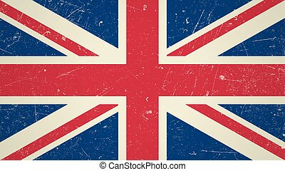 Great Britain flag with grunge textureVector British flag