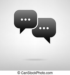 Speech bubble black icon