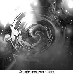 Liquid metallic background with swirling center in it