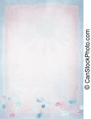 pastel daisy border on pink