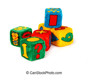 Colorful Toy Cubes - Colorful toy cubes for developing...