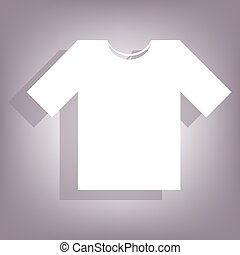 T-shirt icon with shadow