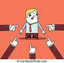 homem negócios, com, mãos,