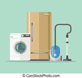 Household objects. Vector flat illustration