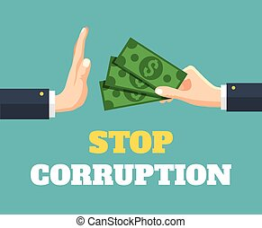 Stop corruption Vector flat illustration