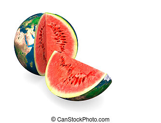 Earth Water Melon