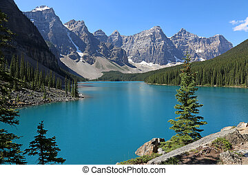Lake Moraine Blue - Spectacular Lake Moraine, located in...