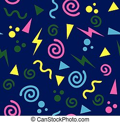Print - vector 80s or 90s background
