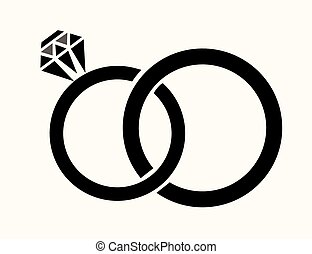 rings - vector wedding rings