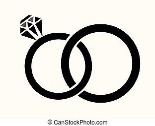 rings - vector wedding rings