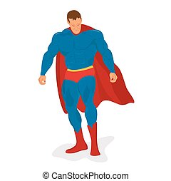 Superhero, icon, vector illustration